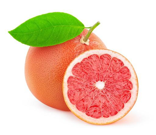 Pink grapefruit with red flesh