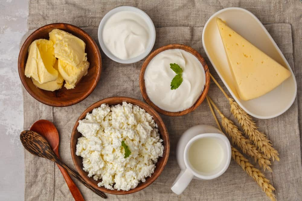 A look at different types of dairy food.