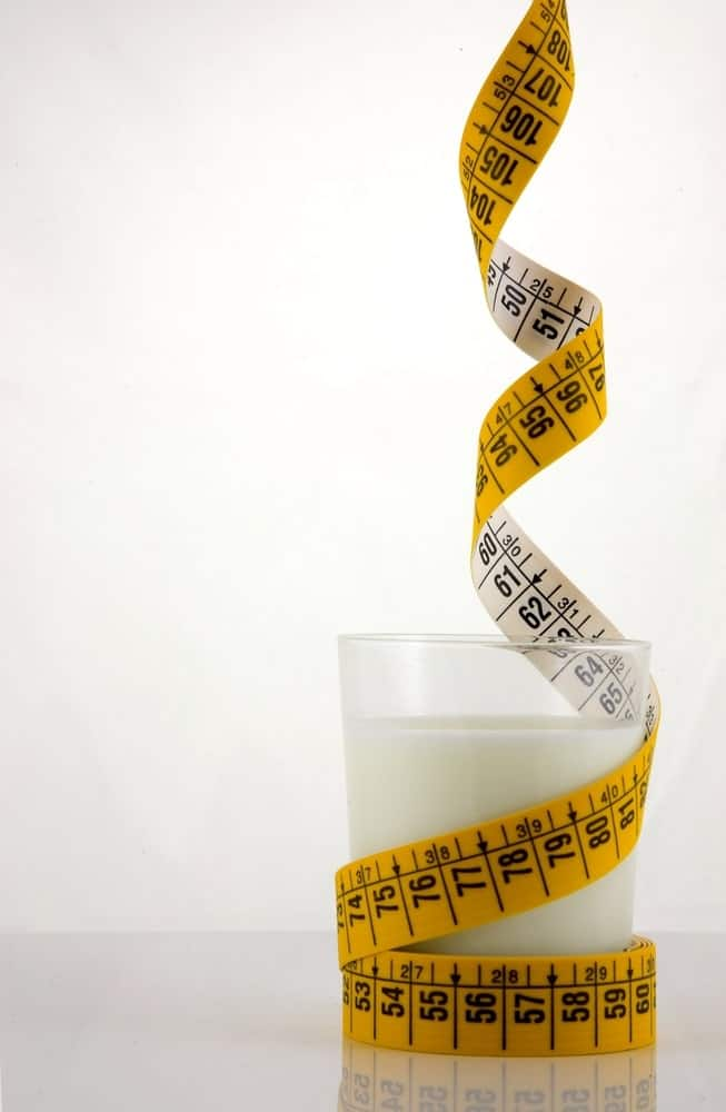 A glass of low-fat milk.